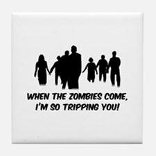 Zombies Quote Tile Coaster