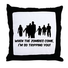 Zombies Quote Throw Pillow