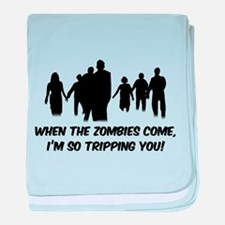 Zombies Quote baby blanket