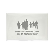 Zombies Quote Rectangle Magnet (100 pack)