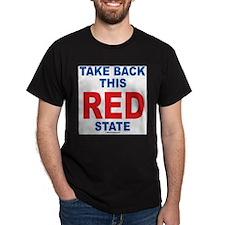 Take Back This Red State Black T-Shirt