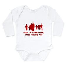 Zombies Quote Long Sleeve Infant Bodysuit