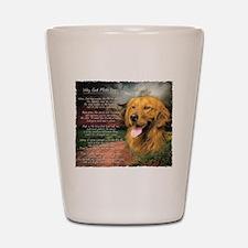 """""""Why God Made Dogs"""" Golden Retriever Shot Glass"""