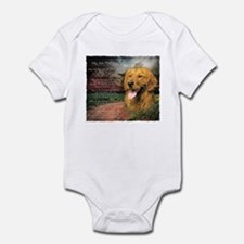 """Why God Made Dogs"" Golden Retriever Infant Bodysu"
