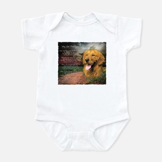 """Why God Made Dogs"" Golden Retriever Infant Bodysu"