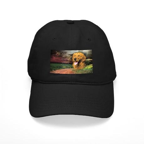 """""""Why God Made Dogs"""" Golden Retriever Black Cap"""
