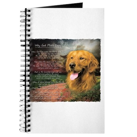 """Why God Made Dogs"" Golden Retriever Journal"