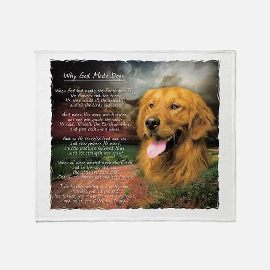 """Why God Made Dogs"" Golden Retriever Stadium Blan"