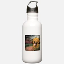 """Why God Made Dogs"" Golden Retriever Water Bottle"