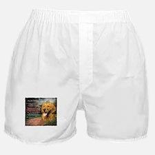 """Why God Made Dogs"" Golden Retriever Boxer Shorts"