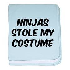 Ninjas Stole My Costume baby blanket