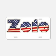 American Zoie Aluminum License Plate