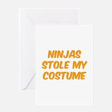 Ninjas Stole My Costume Greeting Card