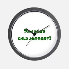 child support Wall Clock