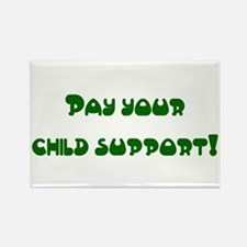 child support Rectangle Magnet