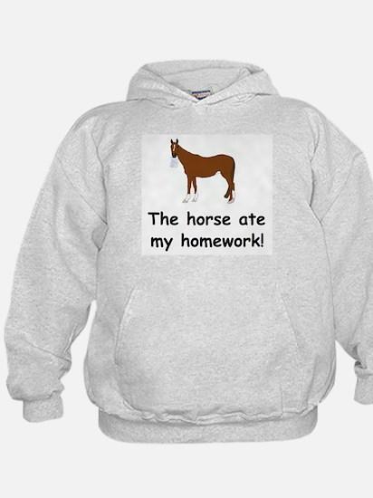 The Horse ate my homework Hoody