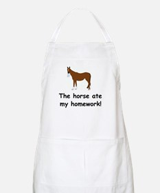 The Horse ate my homework Apron