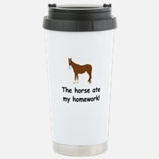 The Horse ate my homework Stainless Steel Travel M