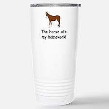 The Horse ate my homework Travel Mug