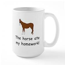 The Horse ate my homework Mug