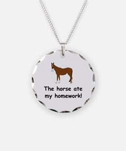 The Horse ate my homework Necklace