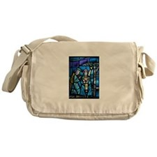 Stained Glass Nativity Messenger Bag