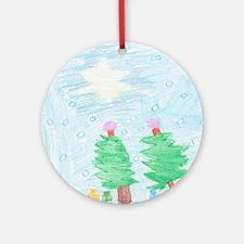 bekah's silent night Ornament (Round)