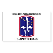 HHC - 172 Infantry Brigade with text Decal
