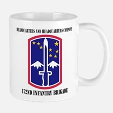 HHC - 172 Infantry Brigade with text Small Small Mug