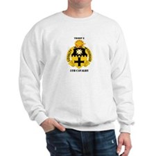 DUI - Troop E, 5th Cavalry with Text Sweatshirt