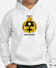 DUI - Troop E, 5th Cavalry with Text Hoodie
