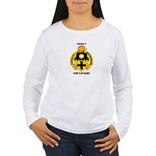 DUI - Troop E, 5th Cavalry with Text T-Shirt