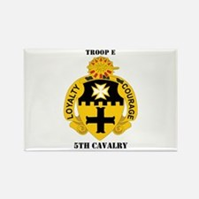 DUI - Troop E, 5th Cavalry with Text Rectangle Mag
