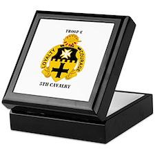 DUI - Troop E, 5th Cavalry with Text Keepsake Box