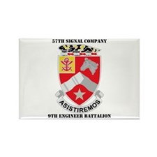 57th SC, 9th Engineer Bn with Text Rectangle Magne