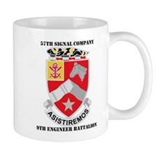 57th SC, 9th Engineer Bn with Text Mug