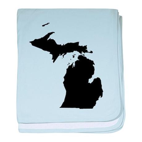 Michigan Map baby blanket