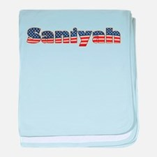 American Saniyah baby blanket