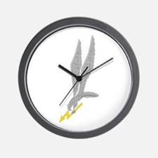GROM Eagle - Silver - Gold Wall Clock