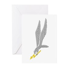 GROM Eagle - Silver - Gold Greeting Cards (Pk of 1
