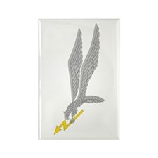 GROM Eagle - Silver - Gold Rectangle Magnet