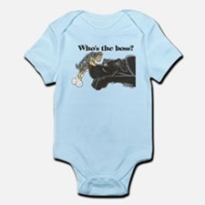 NB/Yorki Who's The Boss? Infant Bodysuit