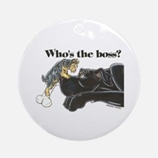 NB/Yorki Who's The Boss? Ornament (Round)