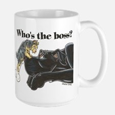 NB/Yorki Who's The Boss? Large Mug