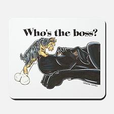 NB/Yorki Who's The Boss? Mousepad