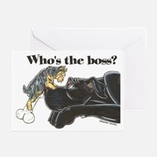 NB/Yorki Who's The Boss? Greeting Cards (Pk of 20)