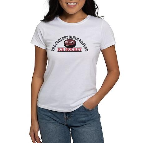Coolest Girls Play Hockey Women's T-Shirt