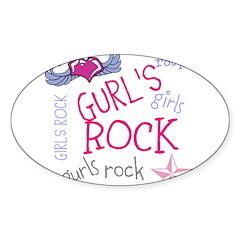 OYOOS Girls Rock design Sticker (Oval)
