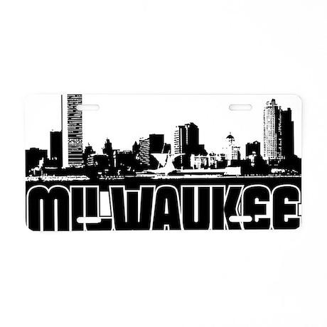 Milwaukee Skyline Aluminum License Plate