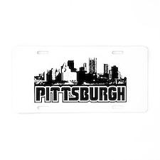 Pittsburgh Skyline Aluminum License Plate